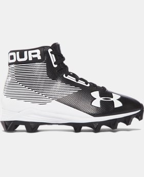 Boys' UA Hammer Mid Jr. Rubber Molded — Wide Football Cleats  1  Color Available $44.99