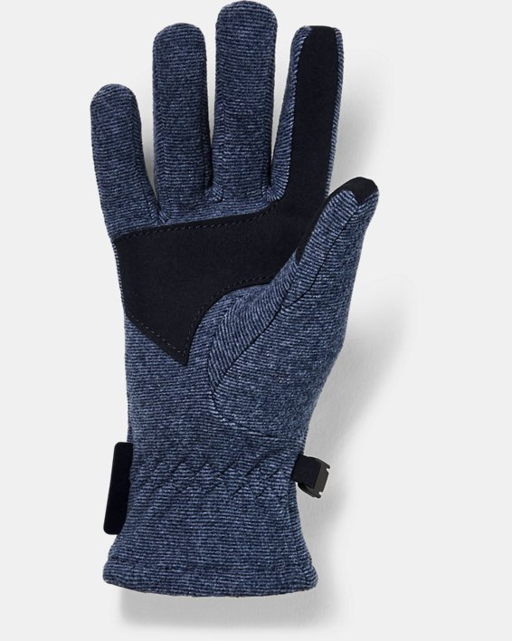 Kids' ColdGear® Infrared Fleece Gloves, Navy, pdpMainDesktop image number 1