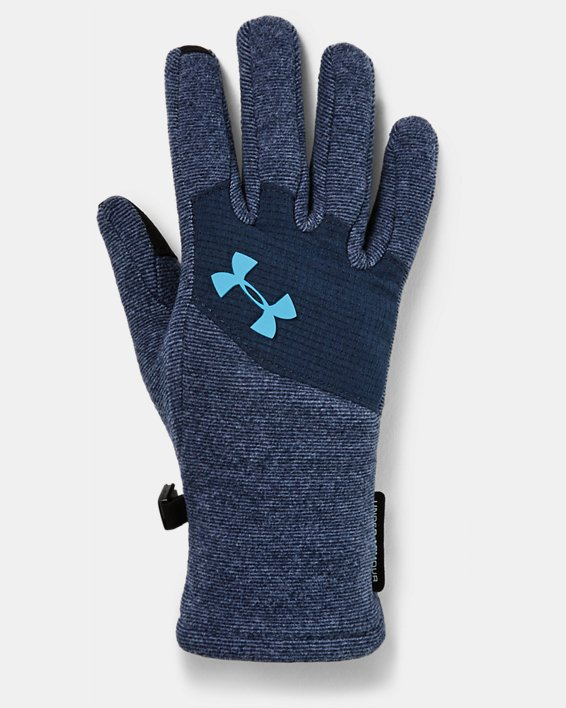 Kids' ColdGear® Infrared Fleece Gloves, Navy, pdpMainDesktop image number 0