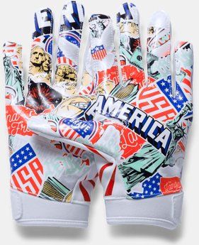 Boys' UA F5 — Limited Edition Football Gloves   $29.99