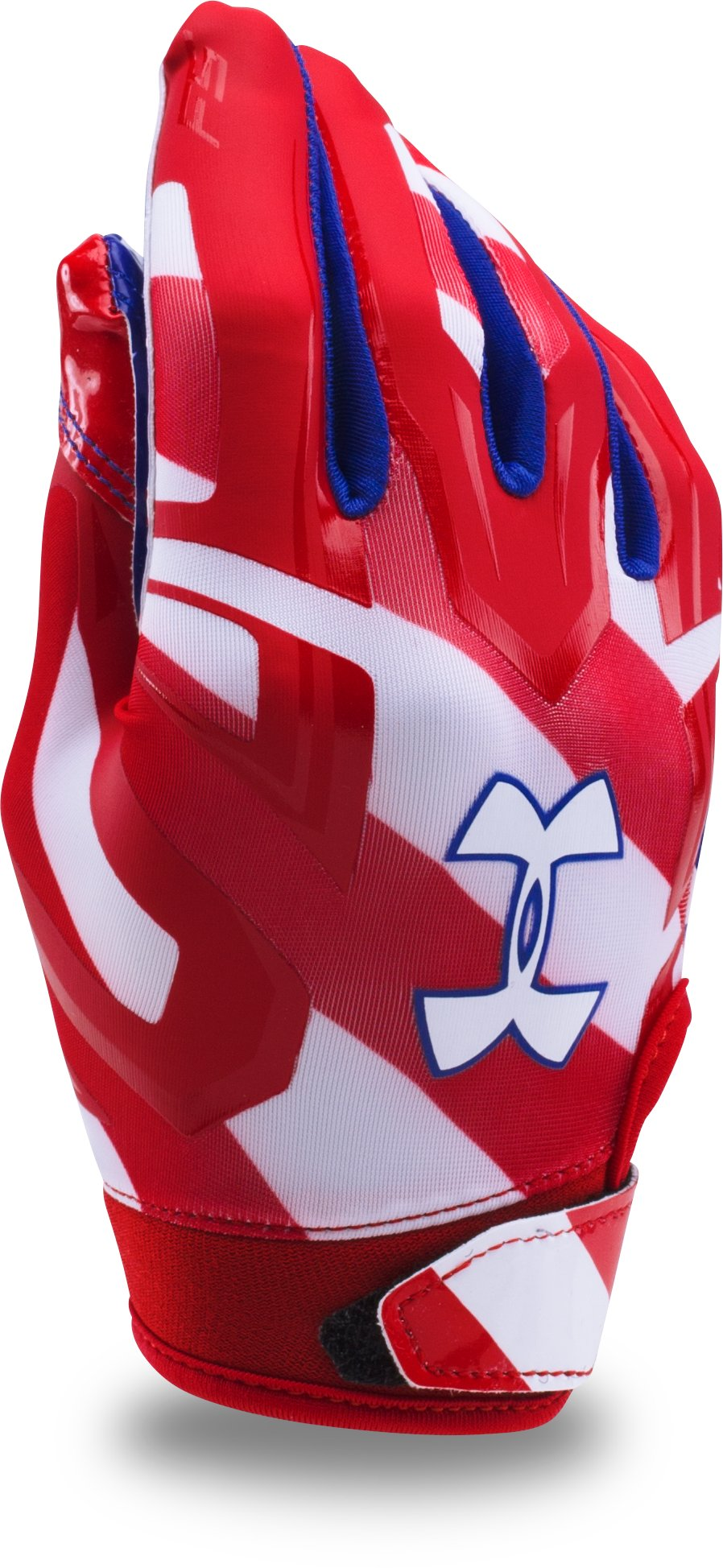 Boys' UA F5 — Limited Edition Football Gloves, Red,