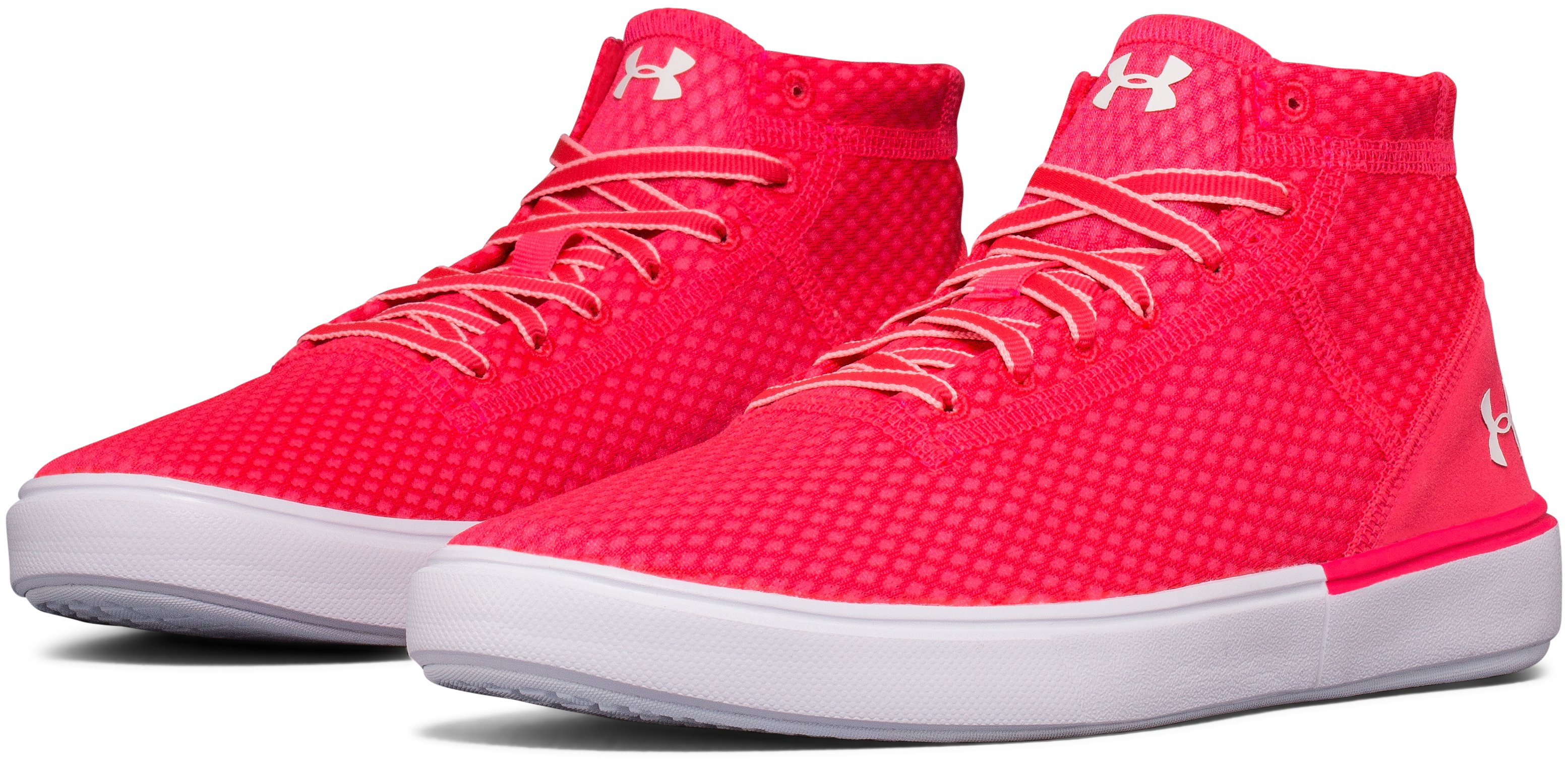 Kids' Grade School UA Kickit2 Mid Lightweight Lifestyle Shoes, PENTA PINK,