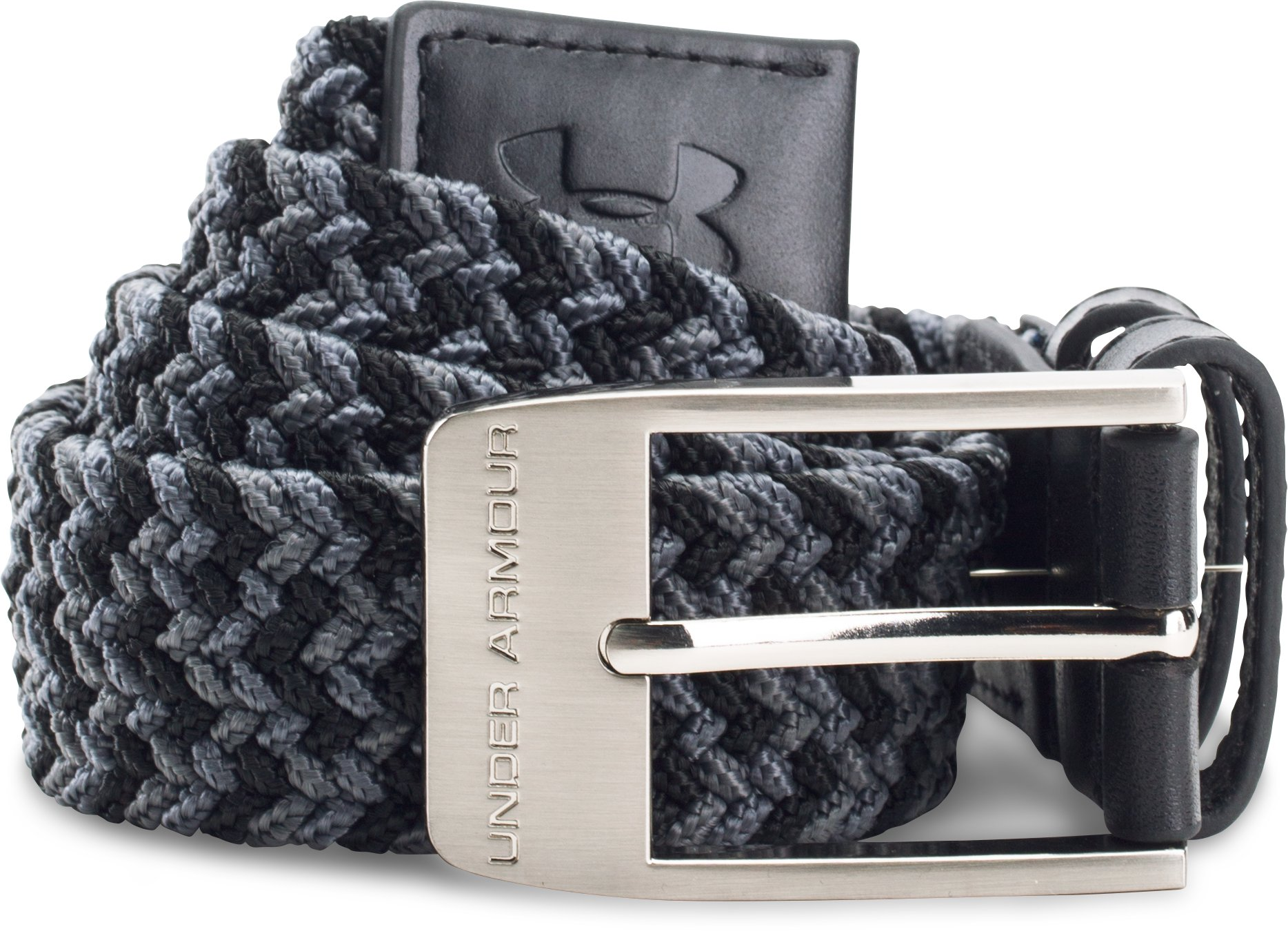 Boys' UA Braided Golf Belt, Black