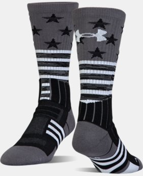 Best Seller UA Unrivaled Stars & Stripes Crew Socks  3 Colors $15