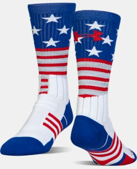 Best Seller UA Unrivaled Stars & Stripes Crew Socks  1  Color Available $14.99