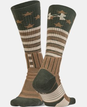 Best Seller UA Unrivaled Stars & Stripes Crew Socks  1  Color Available $15