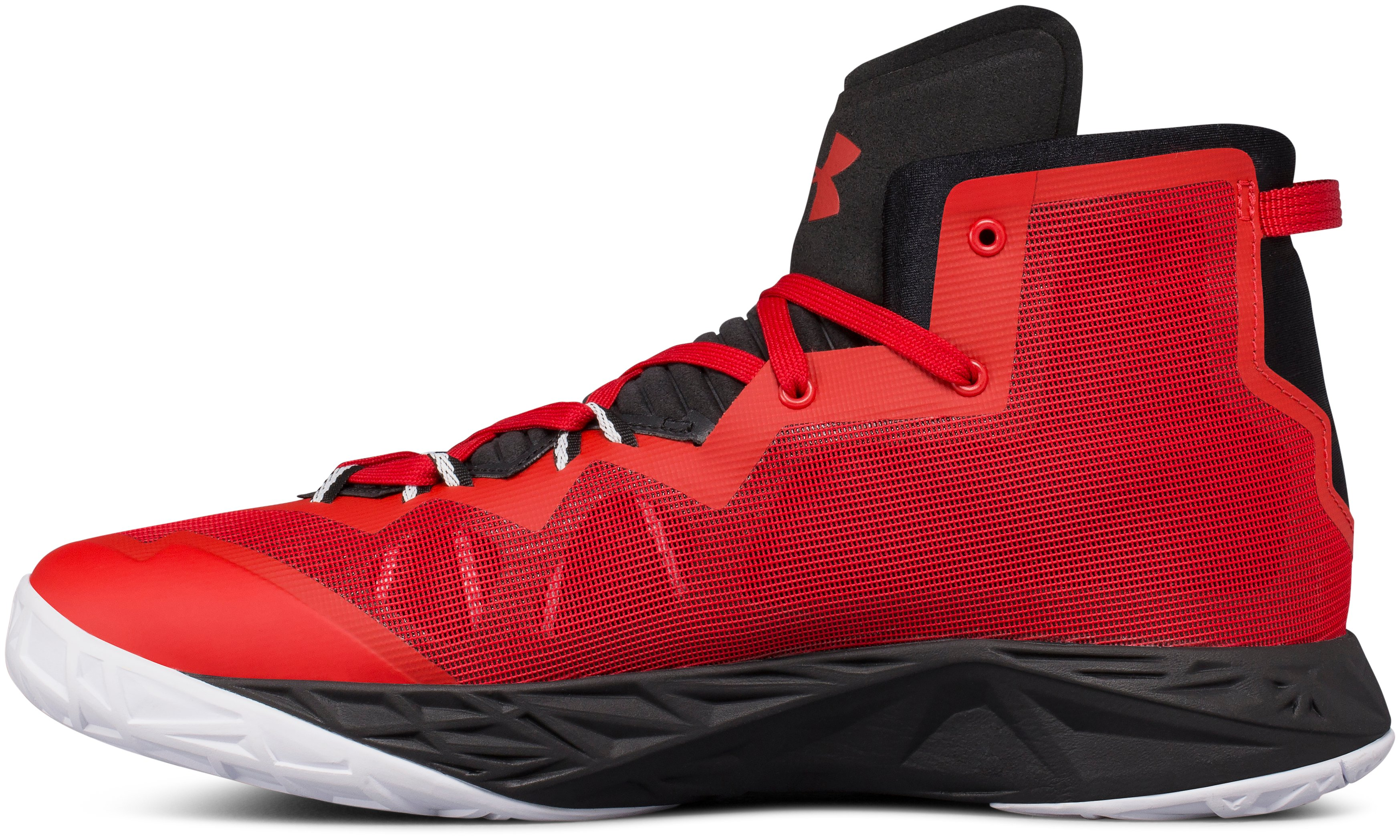 Men's UA Lightning 4 Basketball Shoes, Red,