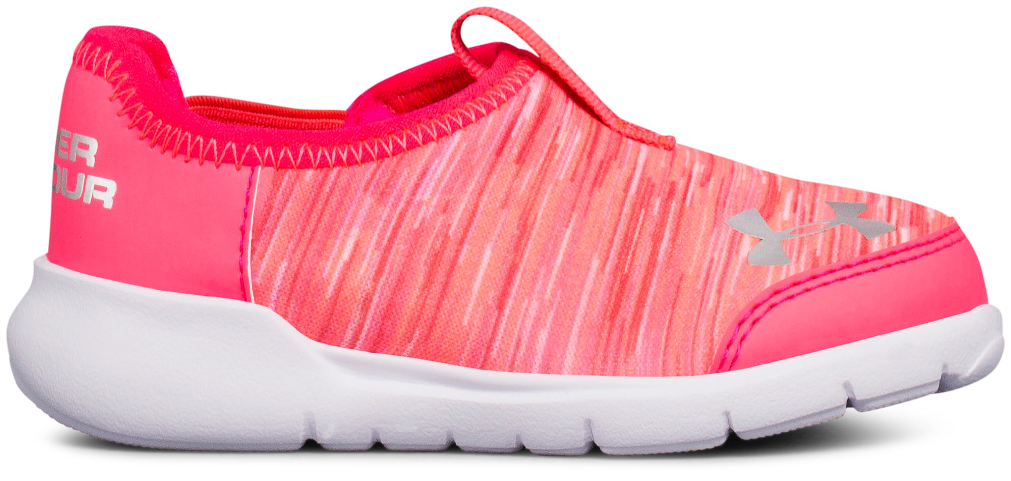 Girls' Infant UA Superflex Running Shoes, PENTA PINK