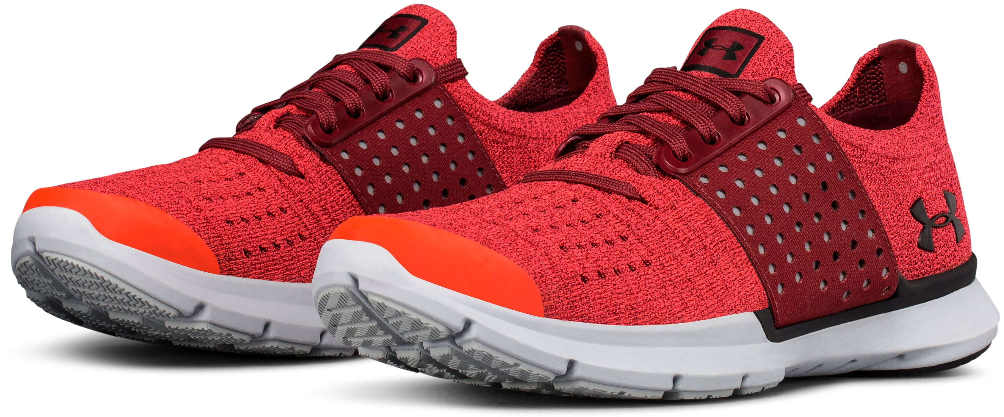 Boys' Grade School UA SpeedForm® Slingwrap Running Shoes, MARATHON RED, undefined
