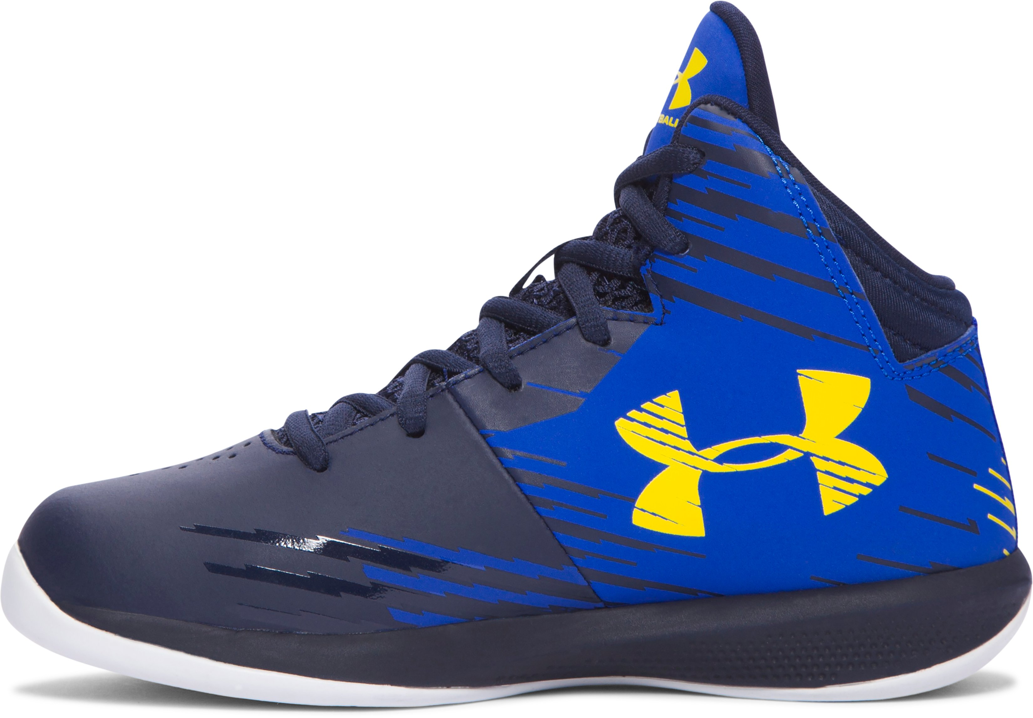 Boys' Pre-School UA Jet Mid Basketball Shoes, TEAM ROYAL, undefined