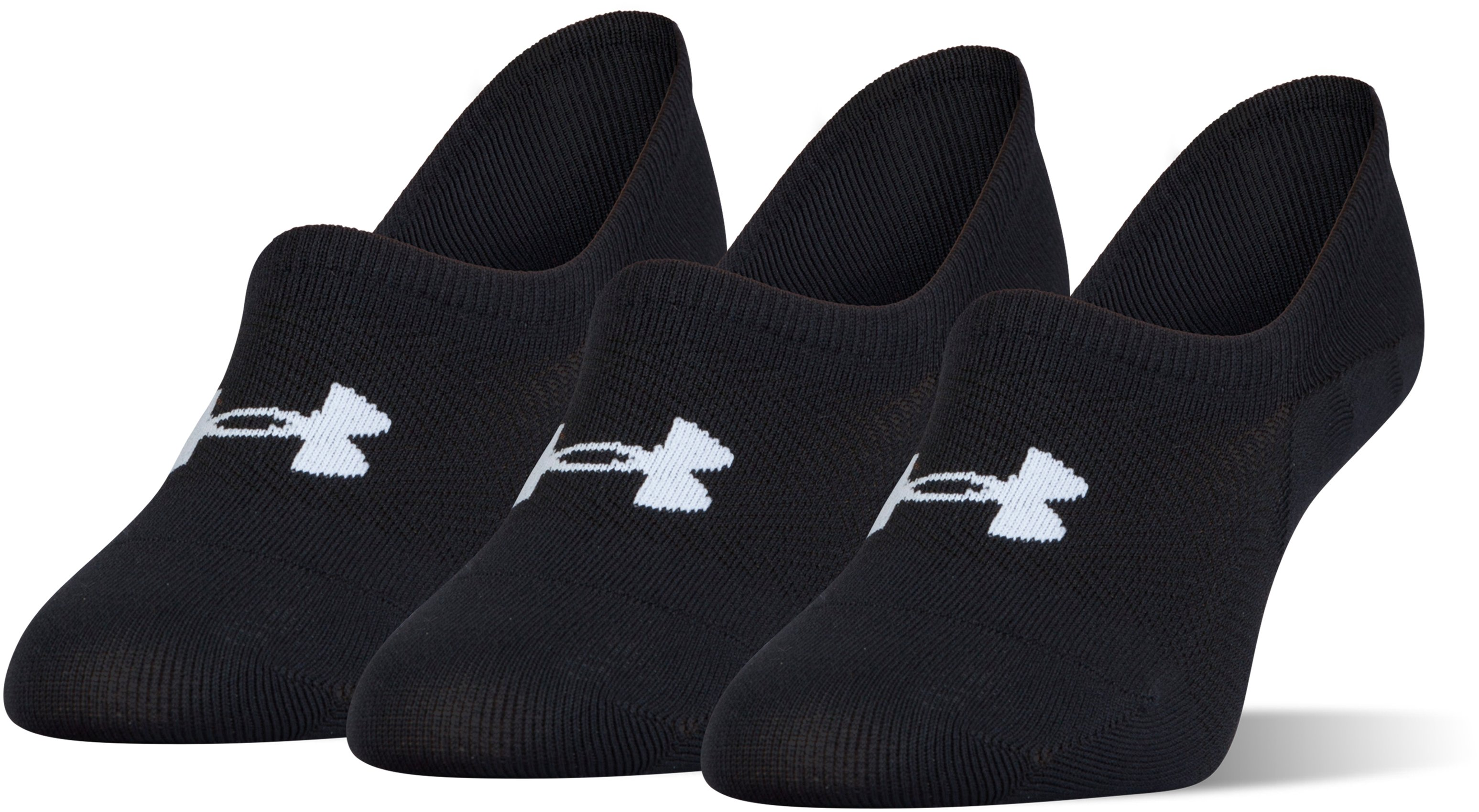 Women's UA Essential Ultra Low Liner Socks – 3-Pack, Black , undefined
