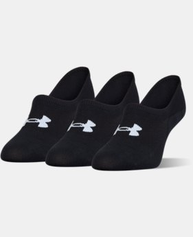 Women's UA Essential Ultra Low Liner Socks – 3-Pack  2 Colors $15