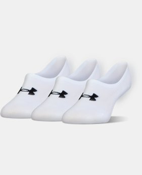 Women's UA Essential Ultra Low Liner Socks – 3-Pack  2  Colors Available $20