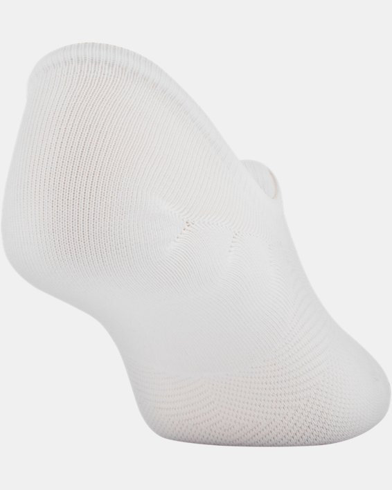 Women's UA Essential Ultra Low Liner Socks - 3-Pack, White, pdpMainDesktop image number 4