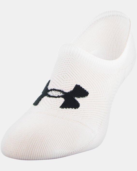 Women's UA Essential Ultra Low Liner Socks - 3-Pack, White, pdpMainDesktop image number 2