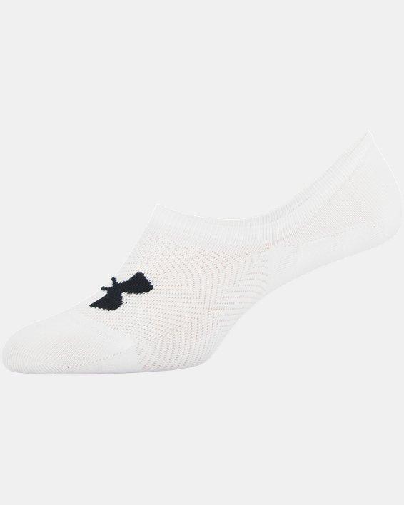 Women's UA Essential Ultra Low Liner Socks - 3-Pack, White, pdpMainDesktop image number 8