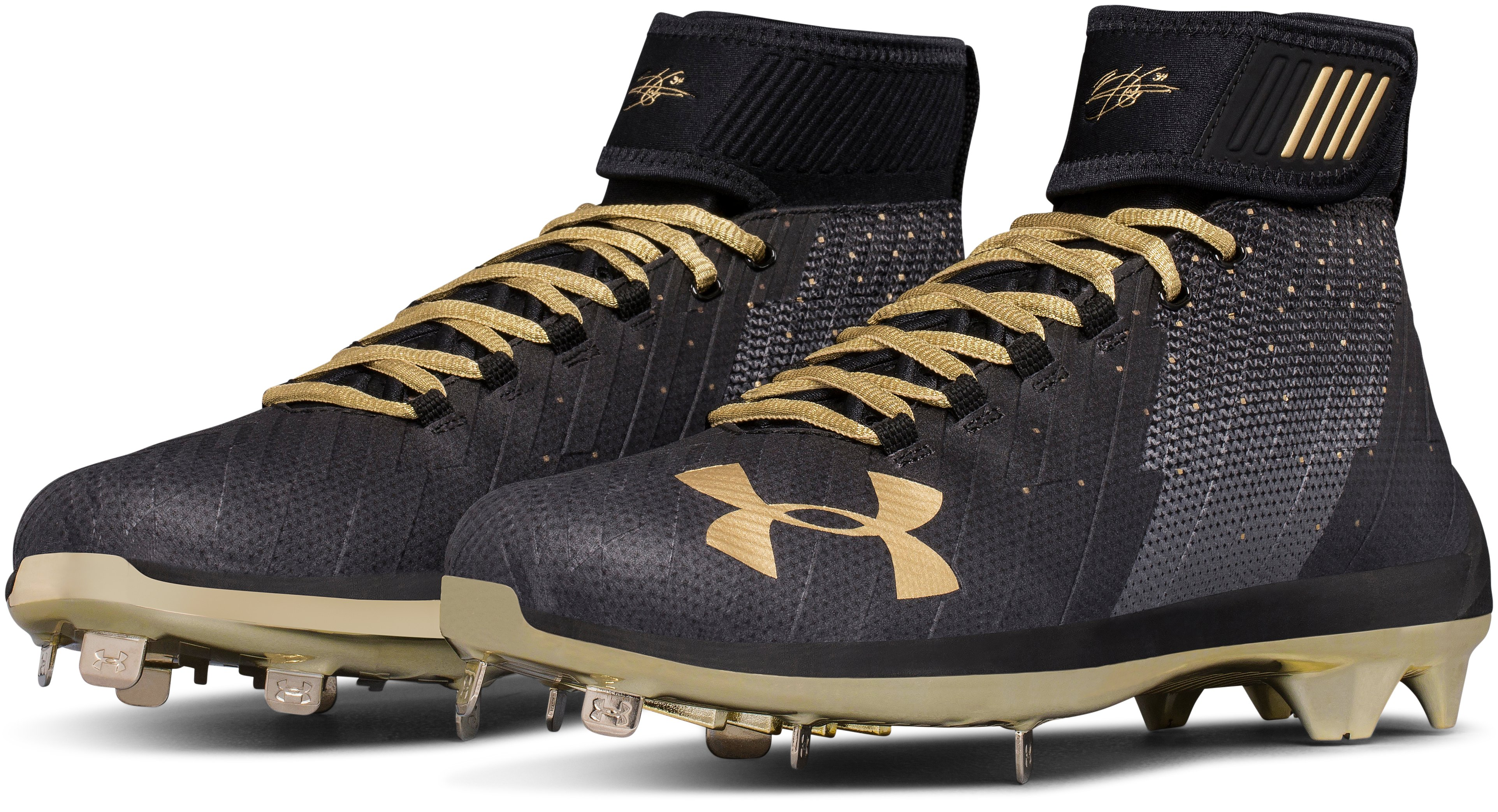 Men's UA Harper 2 Mid ST – Limited Edition Baseball Cleats, Black ,