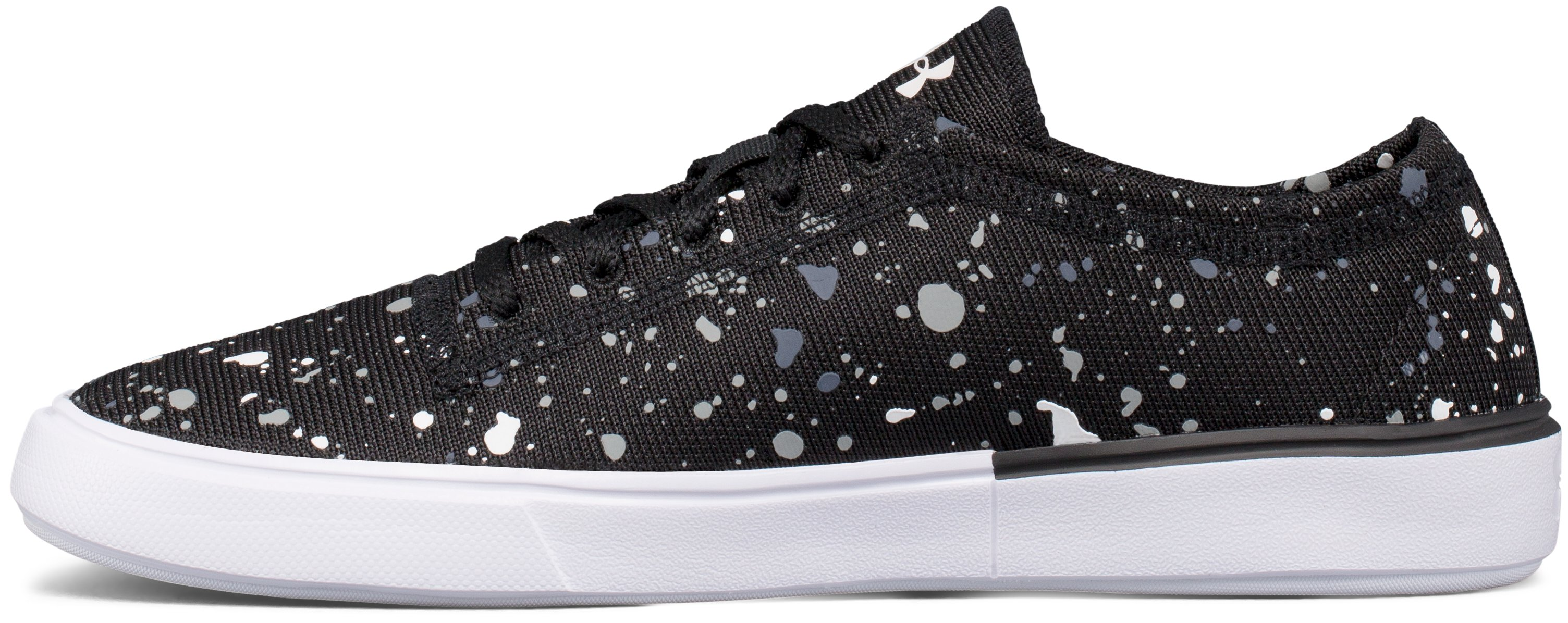 Girls' Grade School UA KickIt2 Splatter Lifestyle Shoes, Black , undefined