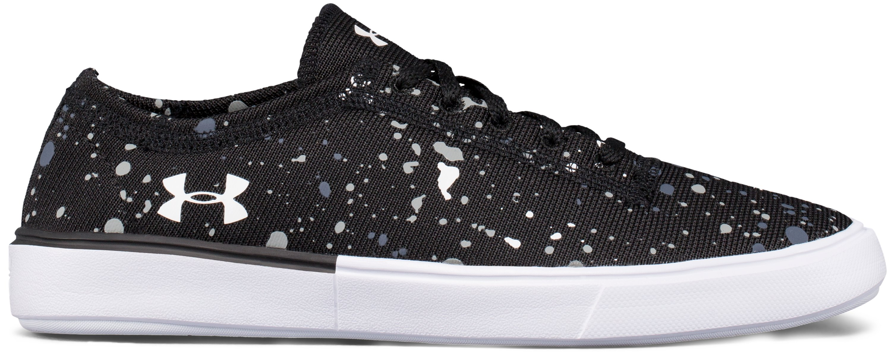 Girls' Grade School UA KickIt2 Splatter Lifestyle Shoes, Black