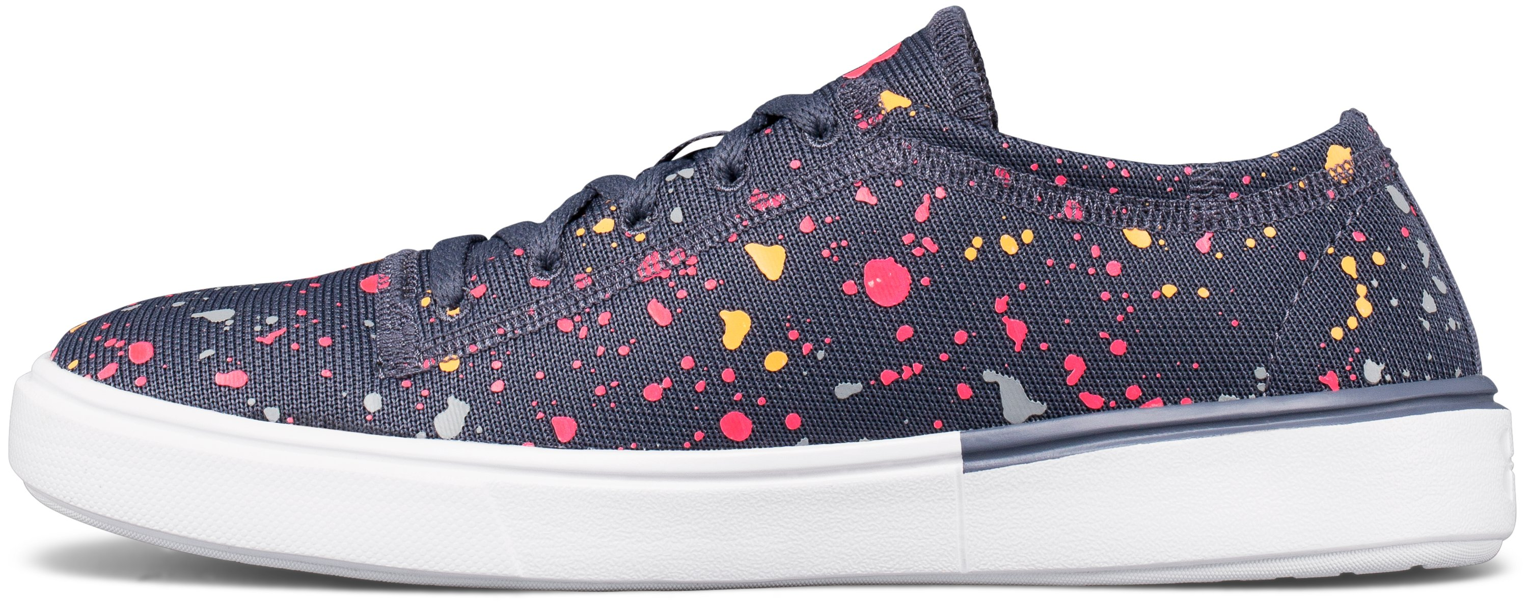 Girls' Grade School UA KickIt2 Splatter Lifestyle Shoes, APOLLO GRAY, undefined