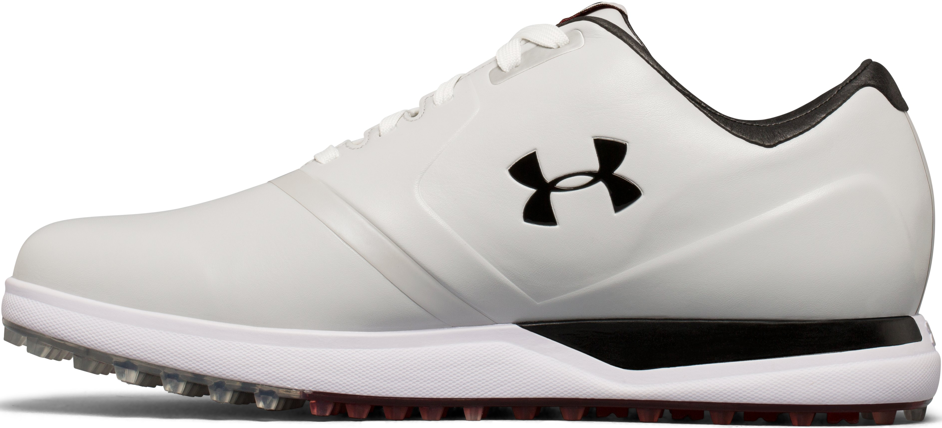 Men's UA Performance Spikeless — Wide Golf Shoes, White,