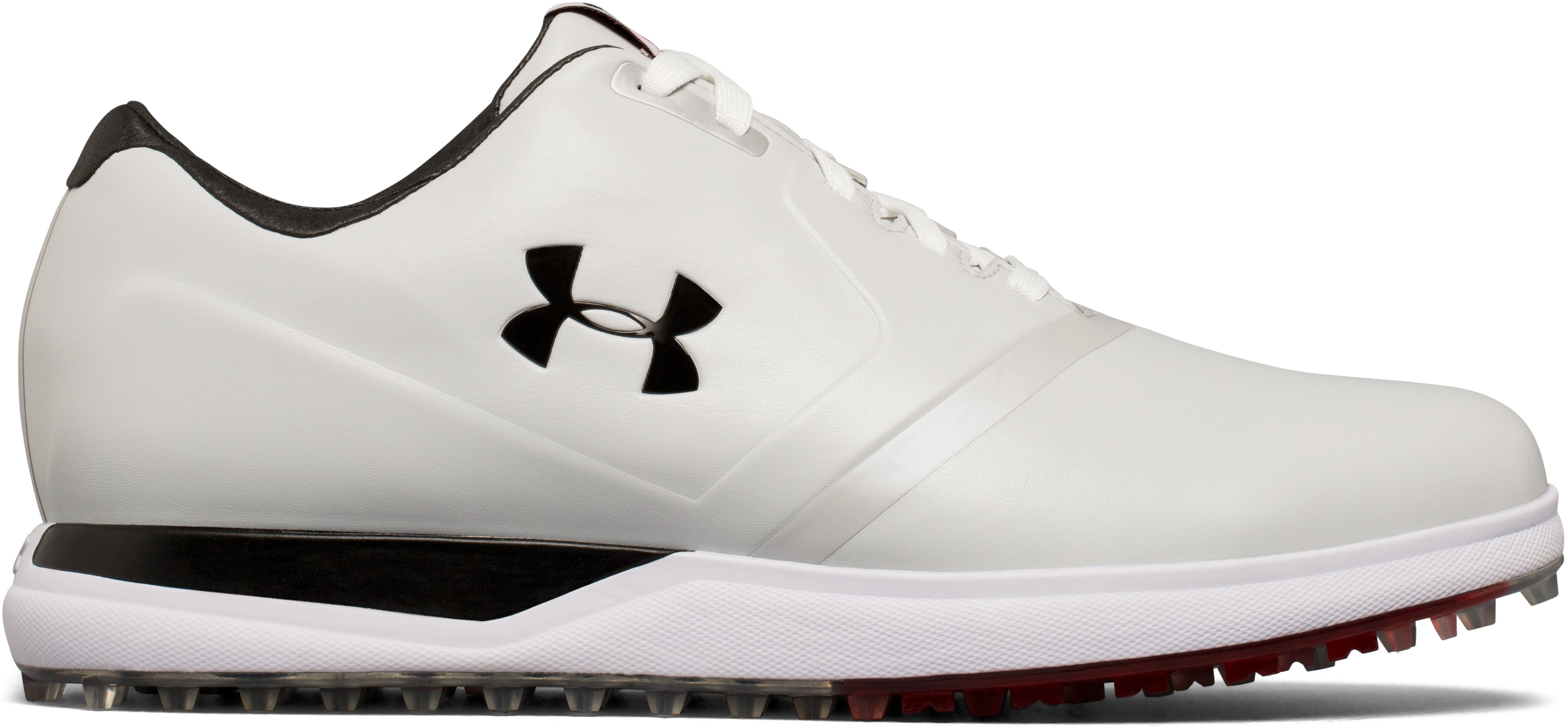 Men's UA Performance Spikeless — Wide Golf Shoes, White, undefined