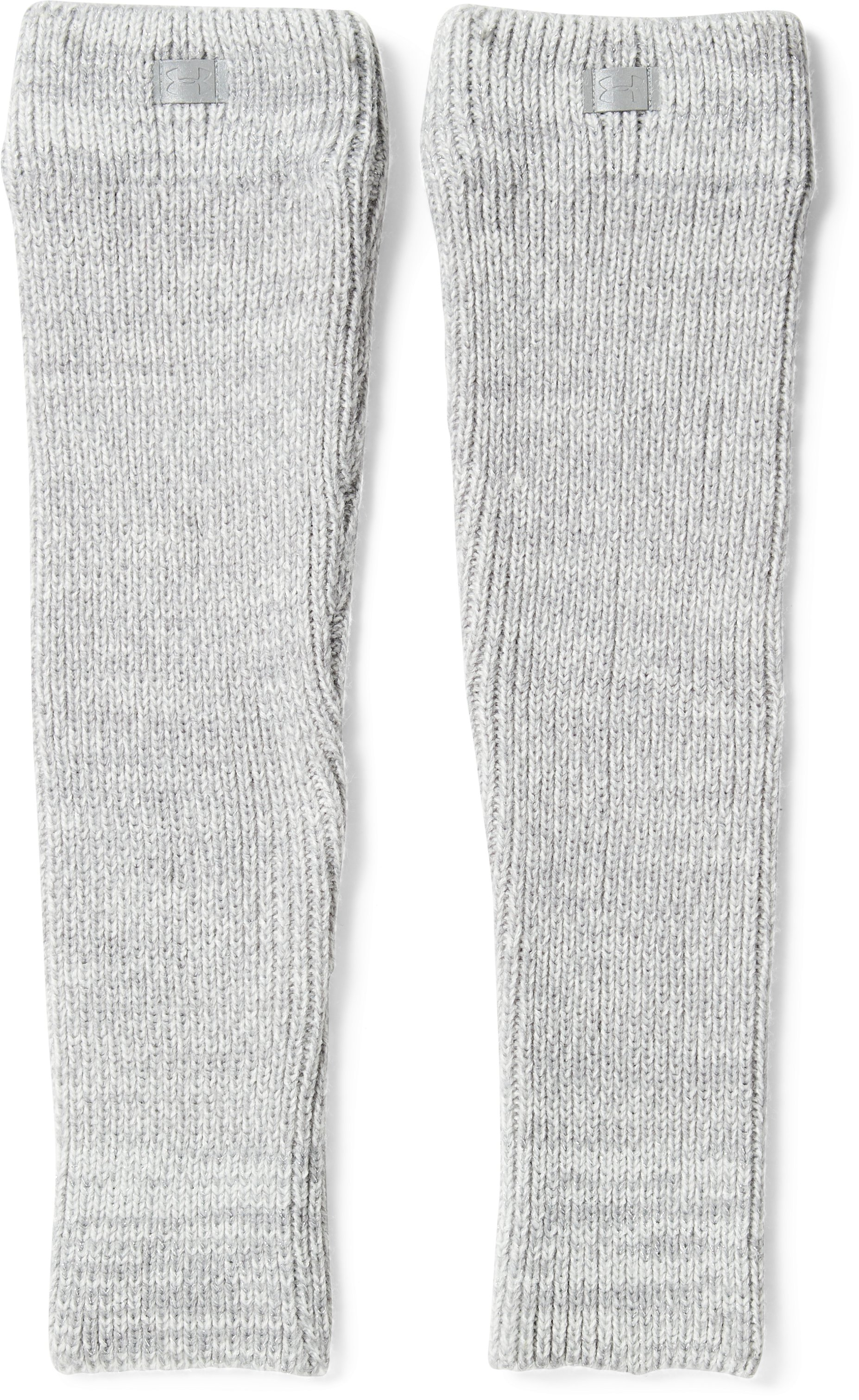 Girls' UA Shimmer Legwarmers, Steel, undefined