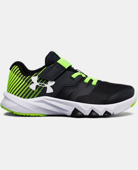 New to Outlet Boys' Pre-School UA Primed 2 Adjustable Closure Running Shoes LIMITED TIME OFFER 4 Colors $43.49