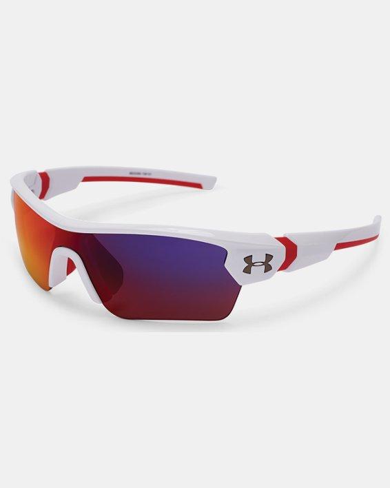 Kids' UA Menace Sunglasses, White, pdpMainDesktop image number 1