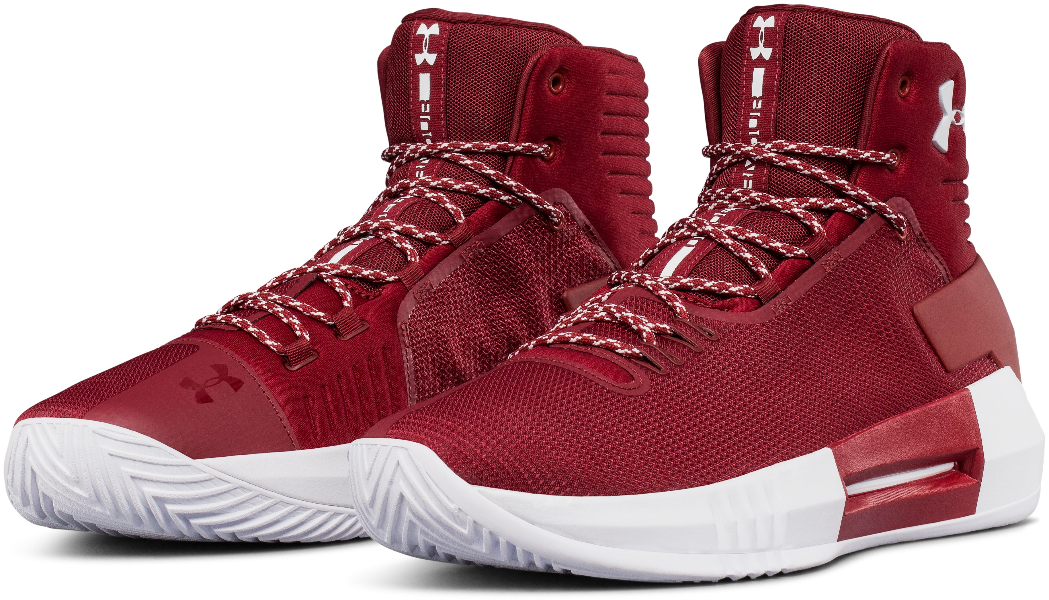 Men's UA Team Drive 4 Basketball Shoes, Cardinal,