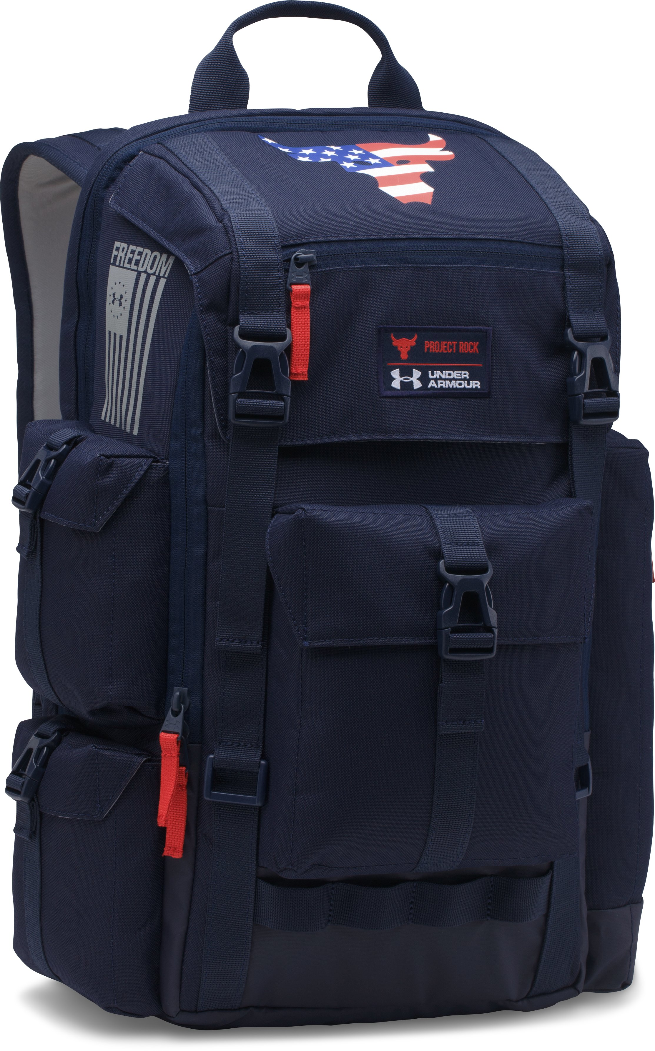 UA x Project Rock Freedom Regiment Backpack, Midnight Navy