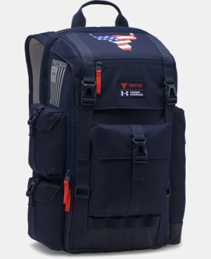 New Arrival UA x Project Rock Freedom Regiment Backpack   $134.99