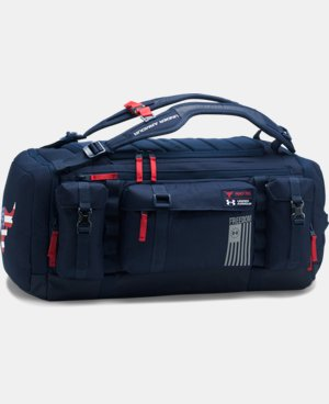 New Arrival UA x Project Rock Freedom Range Duffle   1 Color $159.99