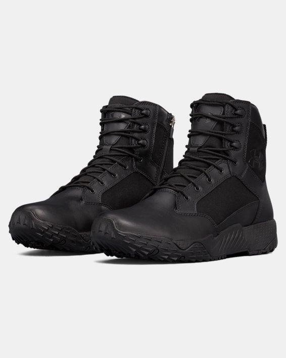 Men's UA Stellar Tactical Side-Zip Boots, Black, pdpMainDesktop image number 4