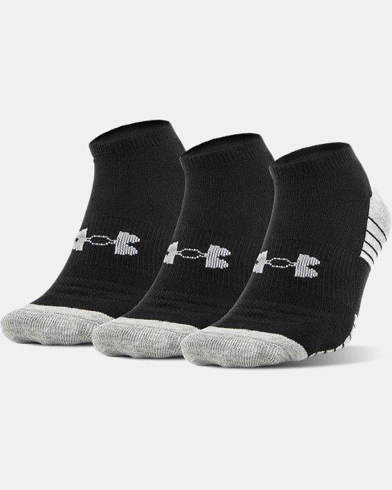UA HeatGear® Tech No Show Socks - 3-Pack, Black, pdpMainDesktop image number 0