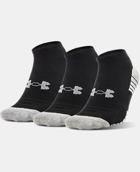 UA HeatGear® Tech No Show Socks – 3-Pack  3 Colors $15