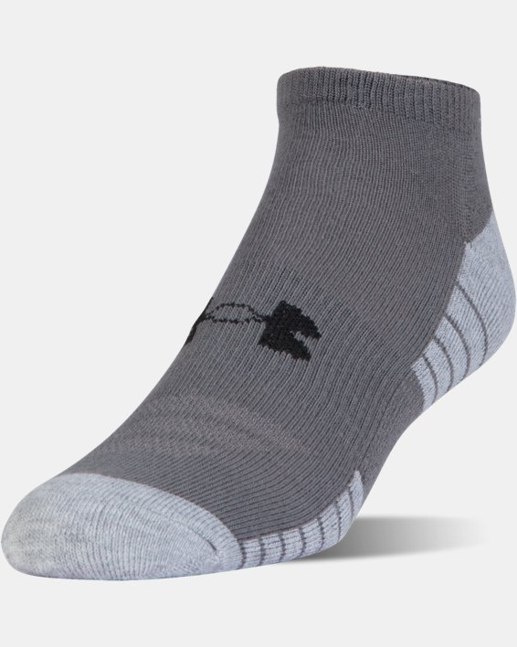 UA HeatGear® Tech No Show Socks - 3-Pack, Black, pdpMainDesktop image number 2
