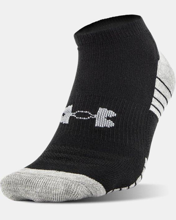 UA HeatGear® Tech No Show Socks - 3-Pack, Black, pdpMainDesktop image number 1