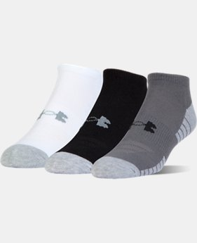 Best Seller UA HeatGear® Tech No Show Socks – 3-Pack  3  Colors Available $14.99