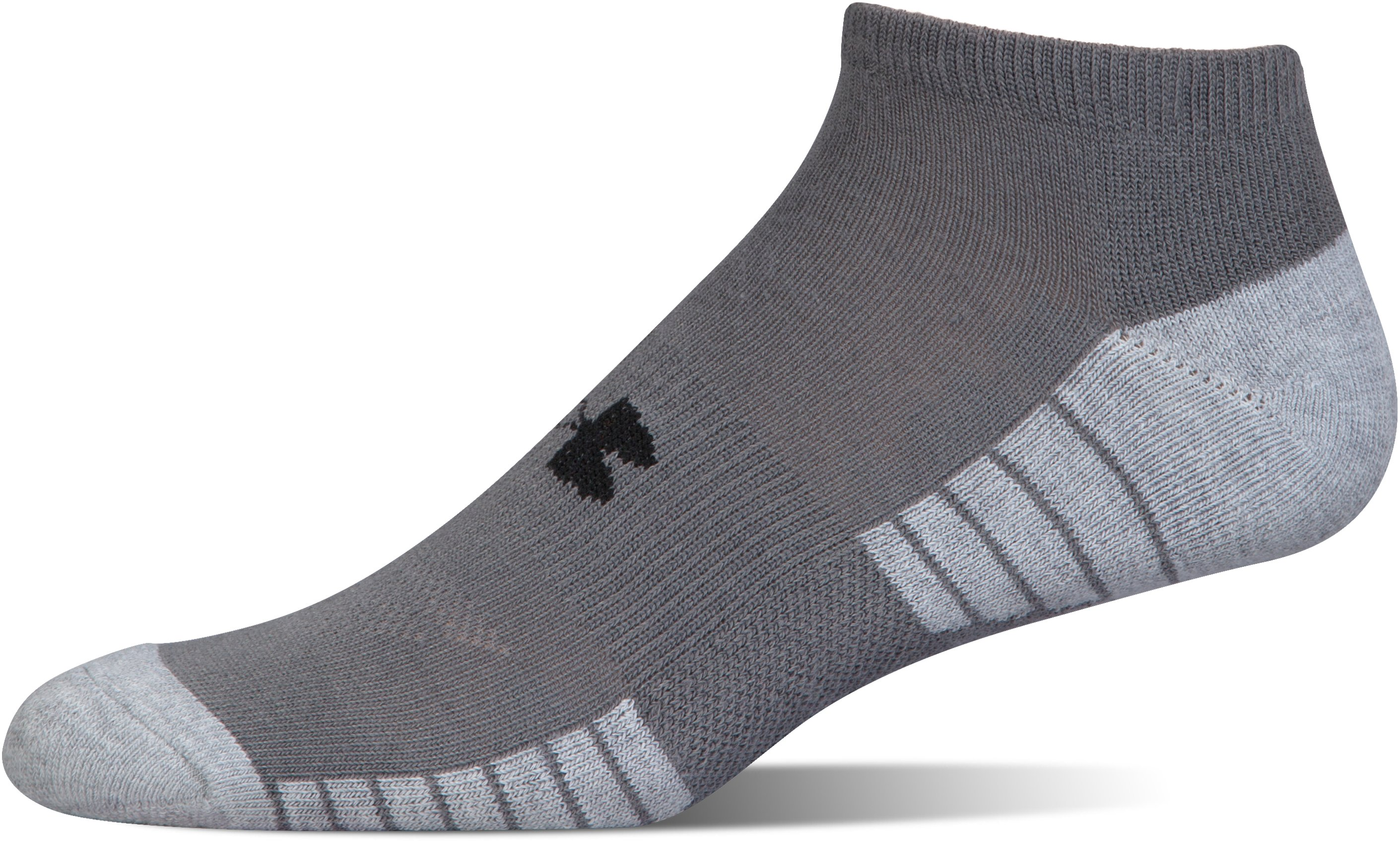 UA HeatGear® Tech No Show Socks – 3-Pack, Graphite,