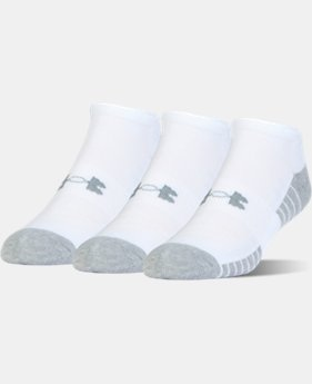UA HeatGear® Tech No Show Socks – 3-Pack  1 Color $15