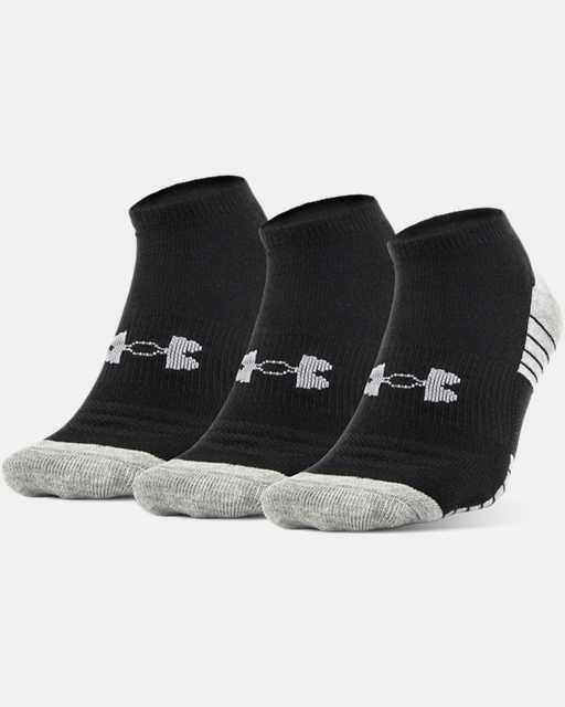 Boys' UA HeatGear® Tech No Show Socks 3-Pack