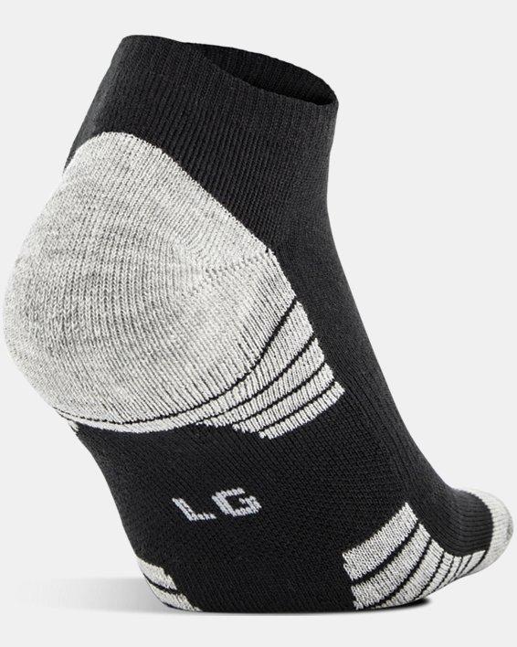 Boys' UA HeatGear® Tech No Show Socks 3-Pack, Black, pdpMainDesktop image number 2