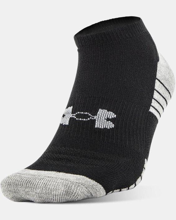 Boys' UA HeatGear® Tech No Show Socks 3-Pack, Black, pdpMainDesktop image number 1