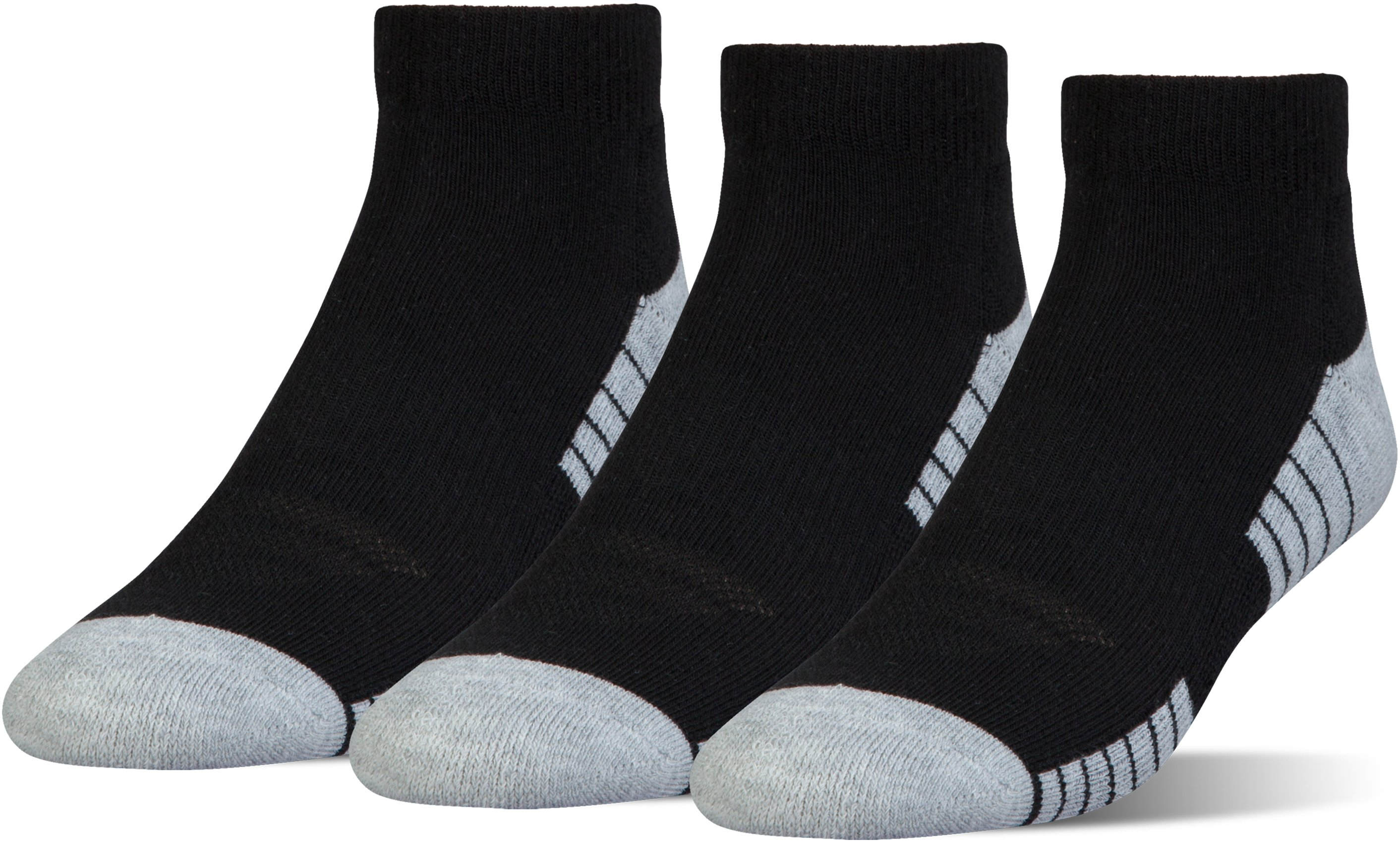 HeatGear® Tech Lo Cut Socks 3-Pack, Black