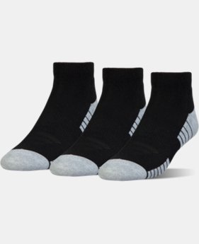 New Arrival HeatGear® Tech Lo Cut Socks 3-Pack  2 Colors $14.99