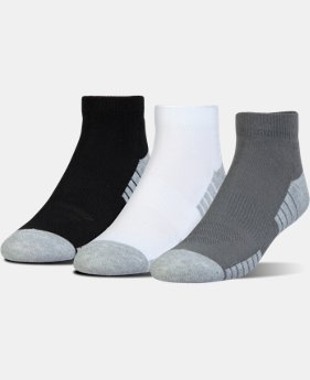 Best Seller HeatGear® Tech Lo Cut Socks 3-Pack  2 Colors $15