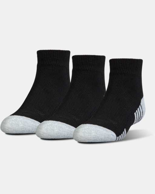 Kids' UA HeatGear® Tech Lo Cut Socks 3-Pack