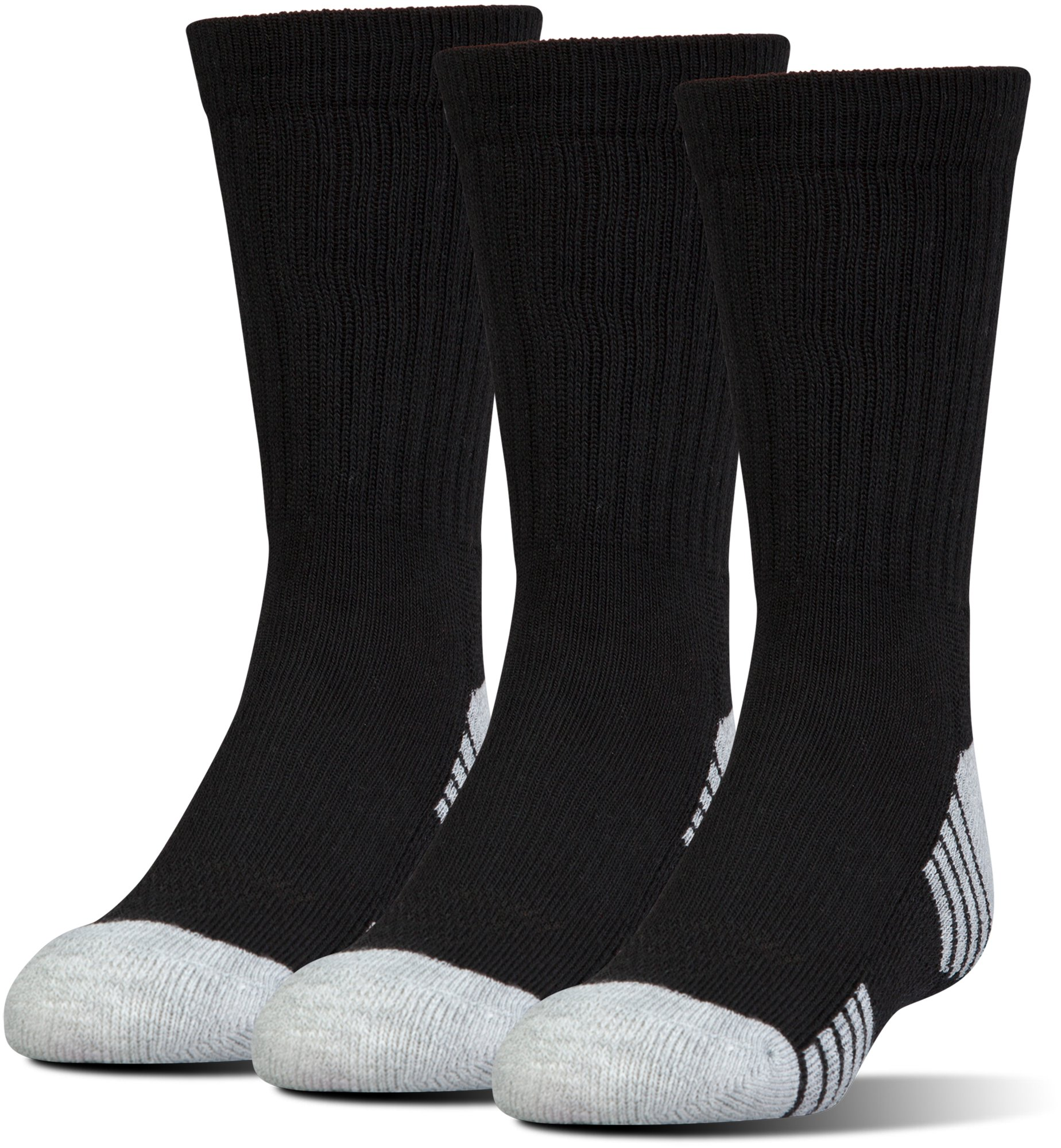 UA HeatGear® Tech Crew Socks – 3-Pack, Black