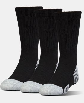 UA HeatGear® Tech Crew Socks – 3-Pack  2  Colors Available $22